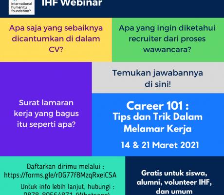 Webinar IHF Career 101 - 1