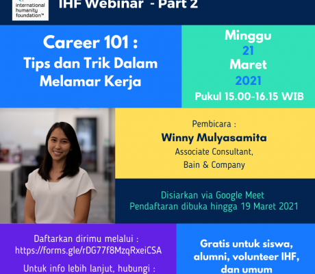 Webinar IHF Career 101 - 3
